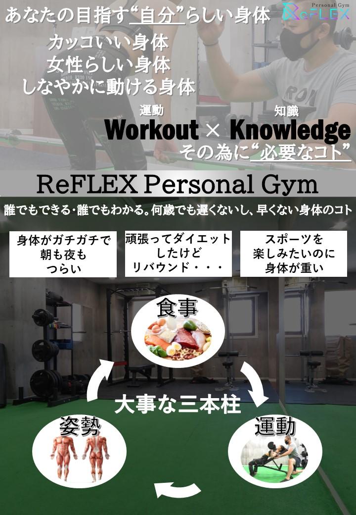 札幌市すすきの駅からすぐ。リフレックスパーソナルジムはあなたの想う自分らしい身体、それを目指す為に必要なトレーニング。札幌すすきの駅から歩いて5分のパーソナルジムReFLEX。ダイエットやボディメイクだけでなく姿勢改善や食事の知識などお身体に関するお悩みに最適な提案をさせていただきます。またストレス発散でキックボクシングも行えます。